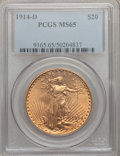 Saint-Gaudens Double Eagles, 1914-D $20 MS65 PCGS....