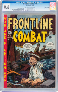 Frontline Combat #10 Gaines File pedigree 5/9 (EC, 1953) CGC NM+ 9.6 Off-white to white pages
