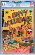 Golden Age (1938-1955):Humor, The Happy Houlihans #1 (EC, 1947) CGC VF/NM 9.0 Off-white pages....