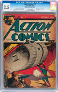 Golden Age (1938-1955):Superhero, Action Comics #17 (DC, 1939) CGC GD+ 2.5 Cream to off-white pages....