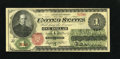 Fr. 16 $1 1862 Legal Tender Fine. This Ace faces up quite well. Some professional restorations are noted on the folds bu...