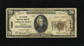 National Bank Notes:Kentucky, Bowling Green, KY - $20 1929 Ty. 1 The Citizens NB Ch. # 5900. Partof a teller stamp is found on the face of this $20. ...