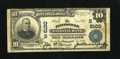 National Bank Notes:Kentucky, Paintsville, KY - $10 1902 Plain Back Fr. 634 The Paintsville NBCh. # (S)6100. The signatures are overly dark on this ...
