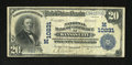 National Bank Notes:Missouri, Kansas City, MO - $20 1902 Plain Back Fr. 658 NB of Commerce Ch. #(M)10231. This is by far the scarcer of the two title...