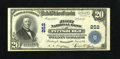 National Bank Notes:Pennsylvania, Pittsburgh, PA - $20 1902 Plain Back Fr. 658 The First NB Ch. # 252. This Plain Back is bright and sharp with bold print...