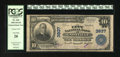 National Bank Notes:Tennessee, Knoxville, TN - $10 1902 Plain Back Fr. 626 The City NB Ch. # 3837.The purple signatures have faded partly away on this...