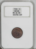 Indian Cents: , 1909 1C MS64 Red and Brown NGC. NGC Census: (286/207). PCGS Population (391/103). Mintage: 14,370,645. Numismedia Wsl. Pric...