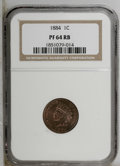 Proof Indian Cents: , 1884 1C PR64 Red and Brown NGC. NGC Census: (73/143). PCGS Population (145/146). Mintage: 3,942. Numismedia Wsl. Price: $25...