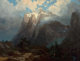 ALBERT BIERSTADT (American, 1830-1902) Mount Brewer from King's River Canyon, California, 1872 Oil on canvas 36 x 47...