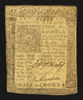 Colonial Notes:Delaware, Delaware January 1, 1776 2s 6d Fine-Very Fine.. ...