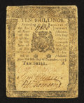 Colonial Notes:Pennsylvania, Pennsylvania December 8, 1775 10s Fine.. ...