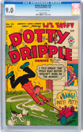 Golden Age (1938-1955):Humor, Dotty Dripple #24 (Harvey, 1952) CGC VF/NM 9.0 Cream to off-white pages....