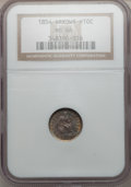 Seated Half Dimes, 1854 H10C Arrows MS66 NGC....