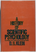 Books:Medicine, D. B. Klein. SIGNED/INSCRIBED. A History of Scientific Psychology....