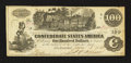Confederate Notes:1862 Issues, T39 $100 1862 PF-8.. ...