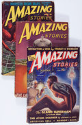 Pulps:Science Fiction, Amazing Stories Group (Ziff-Davis, 1938-48) Condition: AverageVG-.... (Total: 3 Items)