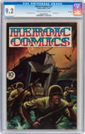 Golden Age (1938-1955):War, Heroic Comics #27 File Copy (Eastern Color, 1944) CGC NM- 9.2 Creamto off-white pages....