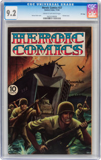 Heroic Comics #27 File Copy (Eastern Color, 1944) CGC NM- 9.2 Cream to off-white pages