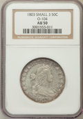 Early Half Dollars, 1803 50C Small 3 AU50 NGC. O-104. PCGS Population (0/7). NumismediaWsl. Price for problem free NGC/PCG...