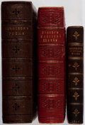 Books:Literature Pre-1900, [Leather Bindings]. Group of Three Nineteenth-Century ElaboratelyTooled Leather Bindings. Embossed in gilt and blind stampi...(Total: 3 Items)