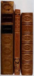 Books:Literature Pre-1900, [Leather Bindings]. Group of Three Nineteenth and EarlyTwentieth-Century Leather Bindings. 1818-1925. Foxing and toning.Ve... (Total: 3 Items)