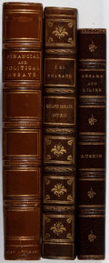 Books:Literature Pre-1900, [Leather Bindings]. Group of Three Nineteenth and EarlyTwentieth-Century Quarter Leather Bindings. Embossed in gilt andbli... (Total: 3 Items)