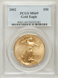 Modern Bullion Coins, 2002 G$50 One-Ounce Gold Eagle MS69 PCGS. PCGS Population(1833/32). NGC Census: (3083/568). Numismedia Wsl. Price for pro...