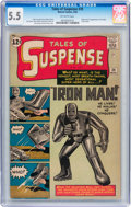 Silver Age (1956-1969):Superhero, Tales of Suspense #39 (Marvel, 1963) CGC FN- 5.5 Off-whitepages....