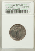 Standing Liberty Quarters, 1916 25C -- Cleaned -- ANACS. VG8 Details. NGC Census: (55/461).PCGS Population (82/935). Mintage: 52,000. Numismedia ...