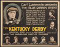 "Movie Posters:Sports, The Kentucky Derby (Universal, 1922). Title Lobby Card (11"" X 14""). Sports.. ..."
