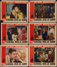 "The General Died at Dawn (Paramount, 1936). Lobby Cards (6) (11"" X 14""). Adventure. ... (Total: 6 Items)"