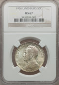 Commemorative Silver, 1936 50C Lynchburg MS67 NGC....