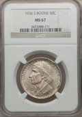 Commemorative Silver, 1936-S 50C Boone MS67 NGC....