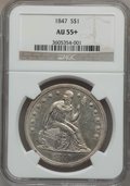 Seated Dollars, 1847 $1 AU55+ NGC....