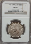 Commemorative Silver, 1936-S 50C Arkansas MS67 NGC....