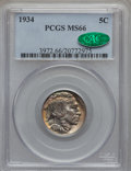 Buffalo Nickels, 1934 5C MS66 PCGS. CAC....