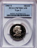 Proof Susan B. Anthony Dollars, 1981-S SBA$ Type Two PR70 Deep Cameo PCGS....