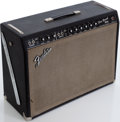 Musical Instruments:Amplifiers, PA, & Effects, 1960s Fender Pro Reverb Black Guitar Amplifier, Serial # A06418...