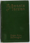 Books:Science Fiction & Fantasy, [Jerry Weist]. Edgar Rice Burroughs. The Beasts of Tarzan. McClurg, 1916. First edition, first printing. Spine leani...