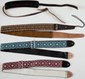 Musical Instruments:Miscellaneous, 1970s Bobby Lee Guitar Strap Lot of 4....