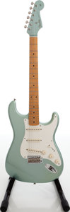 Musical Instruments:Electric Guitars, 2000s Fender Vintage Series Stratocaster Metallic Green Solid Body Electric Guitar, Serial # V133507....