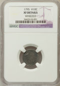 Early Half Dimes, 1795 H10C -- Whizzed -- NGC Details. XF. NGC Census: (18/265). PCGSPopulation (36/287). Mintage: 78,600. Numismedia Wsl. P...