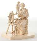 Decorative Arts, Continental:Other , A CONTINENTAL CARVED IVORY FIGURE . 19th century . 4-3/4 incheshigh (12.1 cm). ...