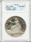 1873 T$1 Trade Dollar, Judd-1322, Pollock-1465, R.4, -- Scratched -- PR60 ANACS. NGC Census: (0/23). PCGS Population (1/...