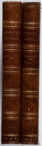 Books:Literature Pre-1900, Horace. Christopher Smart [translator]. The Works of Horace.Vol. I & II. Stirling & Kenney, 1824. New edition. ...(Total: 2 Items)