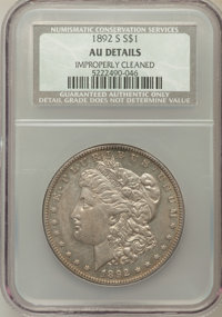 1892-S $1 -- Improperly Cleaned -- NCS. AU Details. NGC Census: (331/682). PCGS Population (350/552). Mintage: 1,200,000...