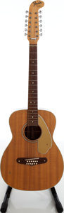 Musical Instruments:Acoustic Guitars, Late 1960s Fender Villager Natural 12-String Acoustic Guitar,Serial #16464....