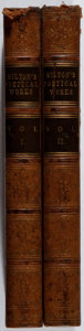 Books:Literature Pre-1900, John Milton. Poetical Works. Vol. I & II. Nichol, 1853.Later edition. Gift inscription. Toning and light foxing... (Total:2 Items)