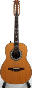 Musical Instruments:Acoustic Guitars, 1974 Ovation Glenn Campbell Natural 12-String Acoustic ElectricGuitar, Serial # 025437....