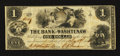 Obsoletes By State:Michigan, Ann Arbor, MI - The Bank of Washtenaw $1 May 1, 1854. ...